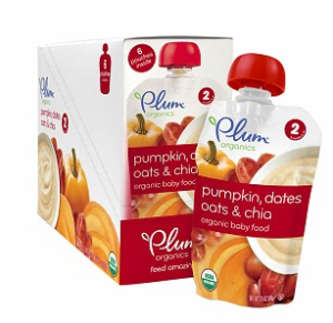 Just one of many different varieties of Plum Stage 2 baby food pouches. (Image Credit: Drugstore.com)